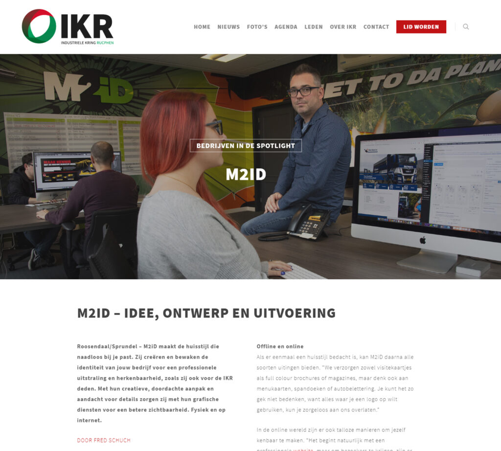 Blogs voor IKR over M2iD - Conntext