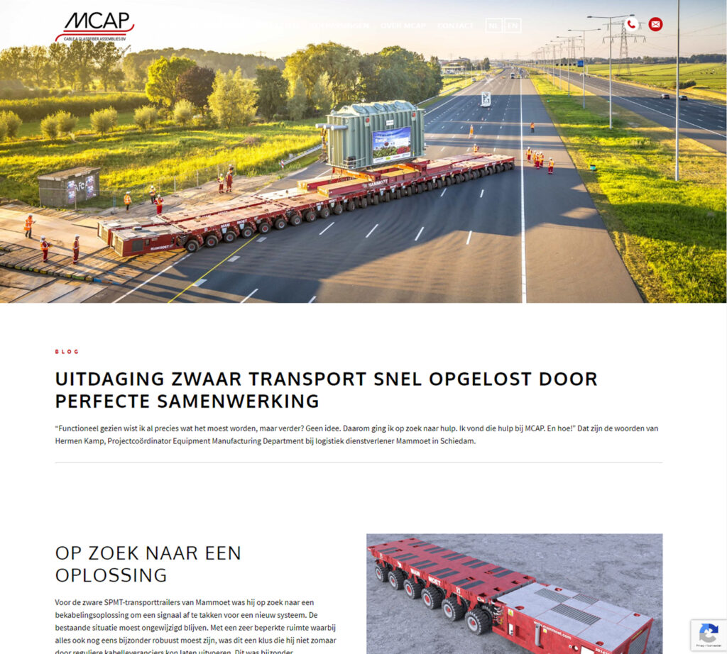 Blogs voor MCAP over Mammoet - Conntext