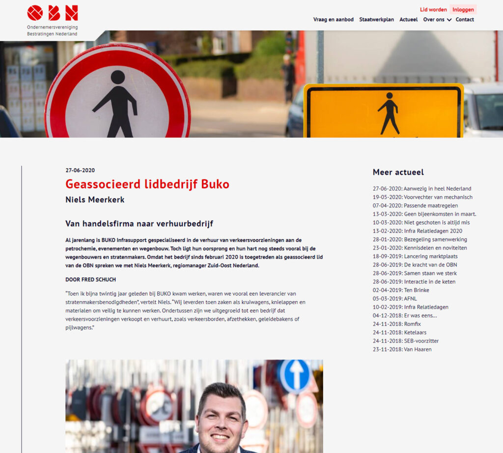 Blogs voor OBN over BUKO Infrasupport - Conntext