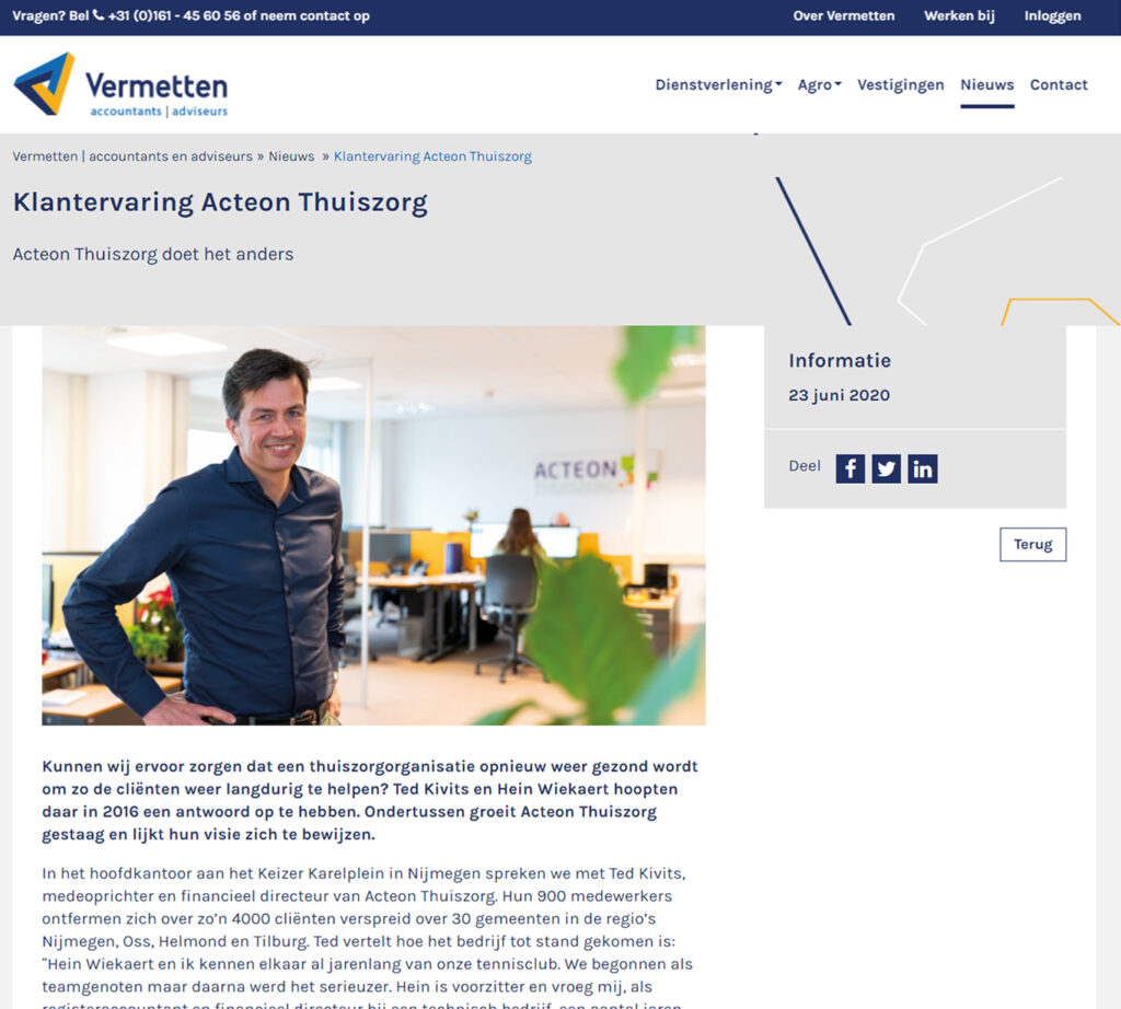 Blogs voor Vermetten over Acteon - Conntext