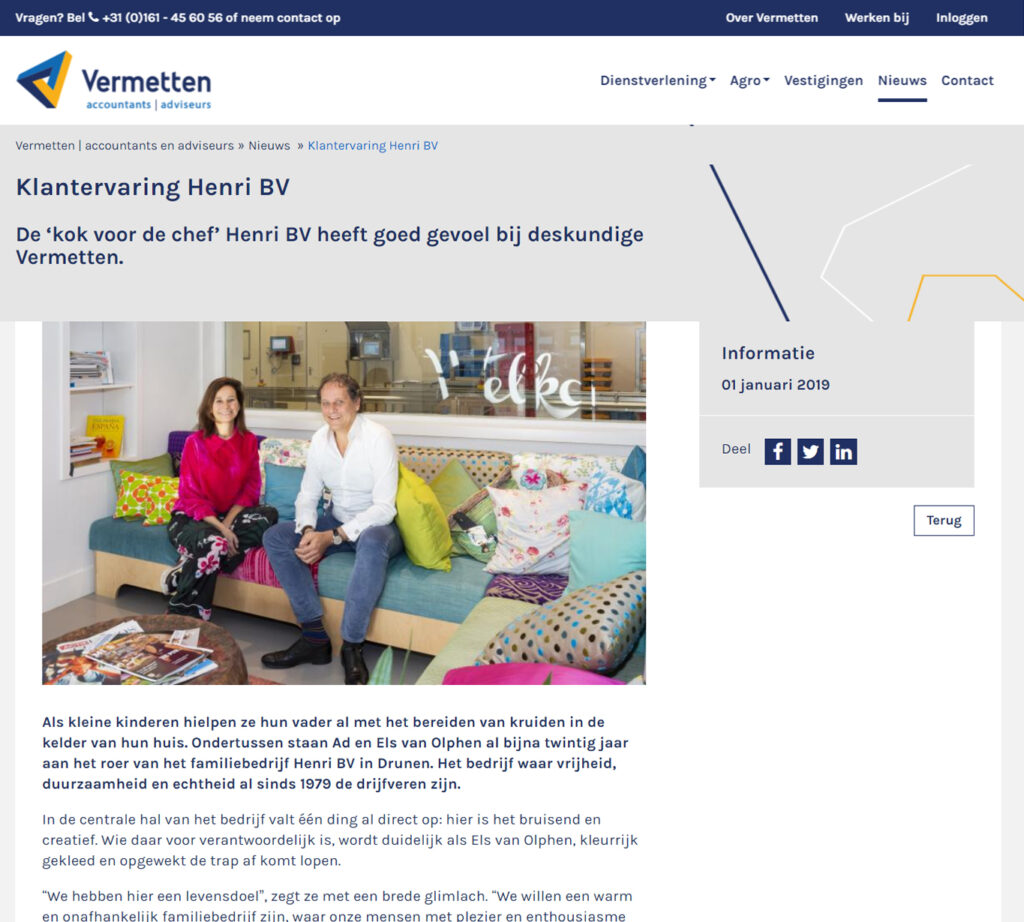 Blogs voor Vermetten over Henri - Conntext
